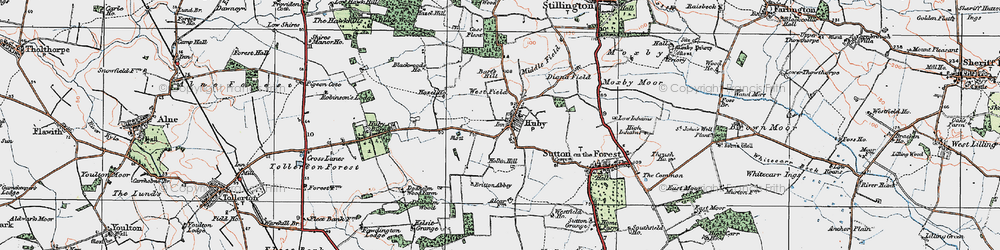 Old map of Woodside in 1924