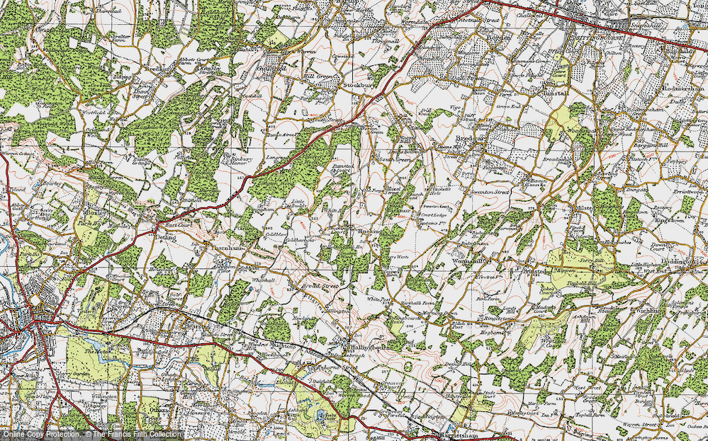 Old Map of Historic Map covering Admiral Ho in 1921