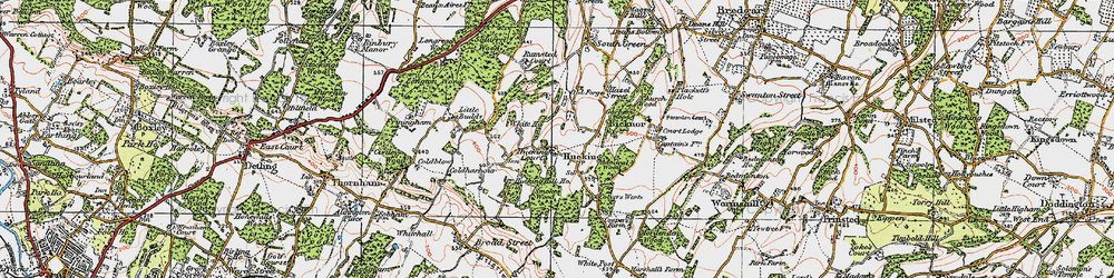 Old map of Admiral Ho in 1921