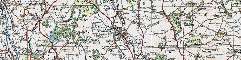 Old map of Wighay in 1921