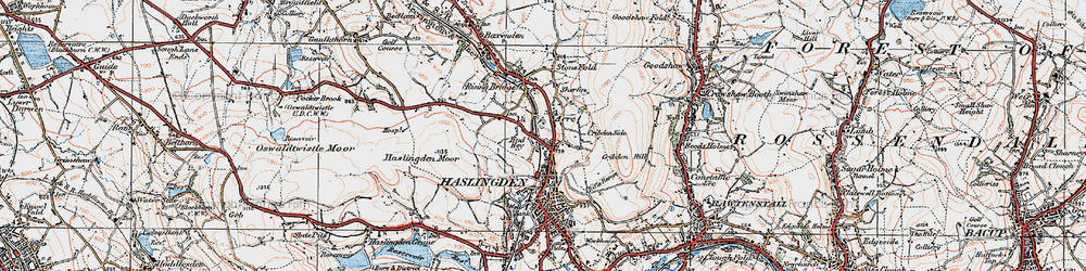Old map of Acre in 1924