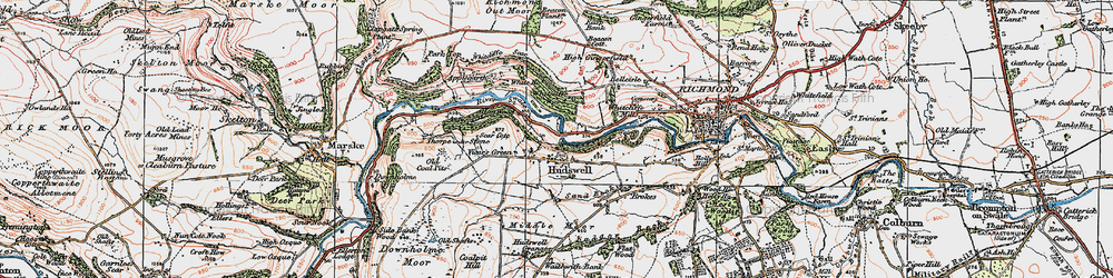 Old map of Whitcliffe Wood in 1925