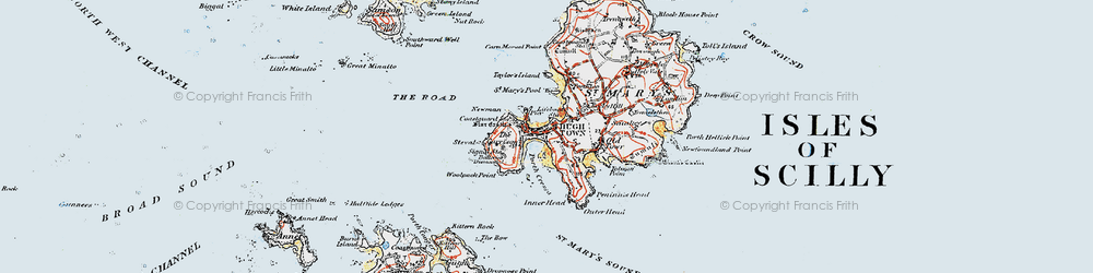 Old map of Woolpack Point in 1919