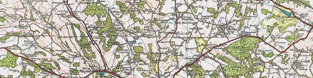 Old map of Hughenden Valley in 1919