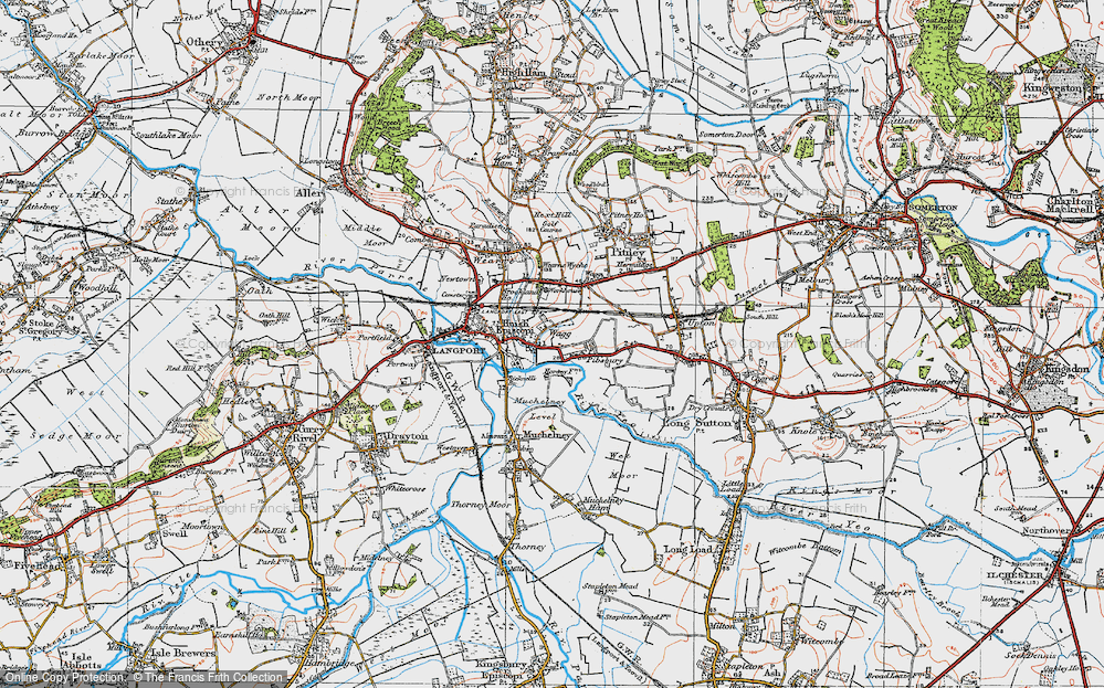 Old Map of Huish Episcopi, 1919 in 1919