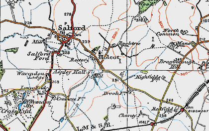 Old map of Aspley Hall in 1919