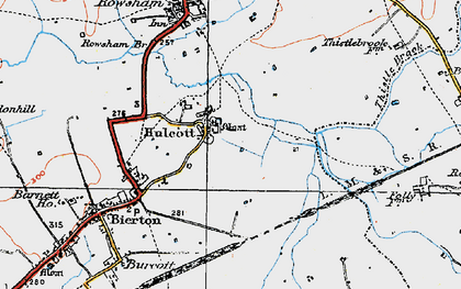 Old map of Aylesbury Ring in 1919