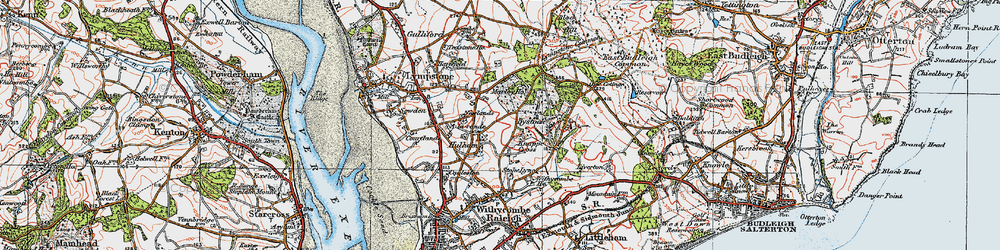 Old map of A-la-Ronde in 1919