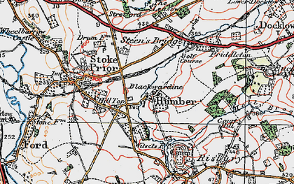 Old map of Witsetts, The in 1920