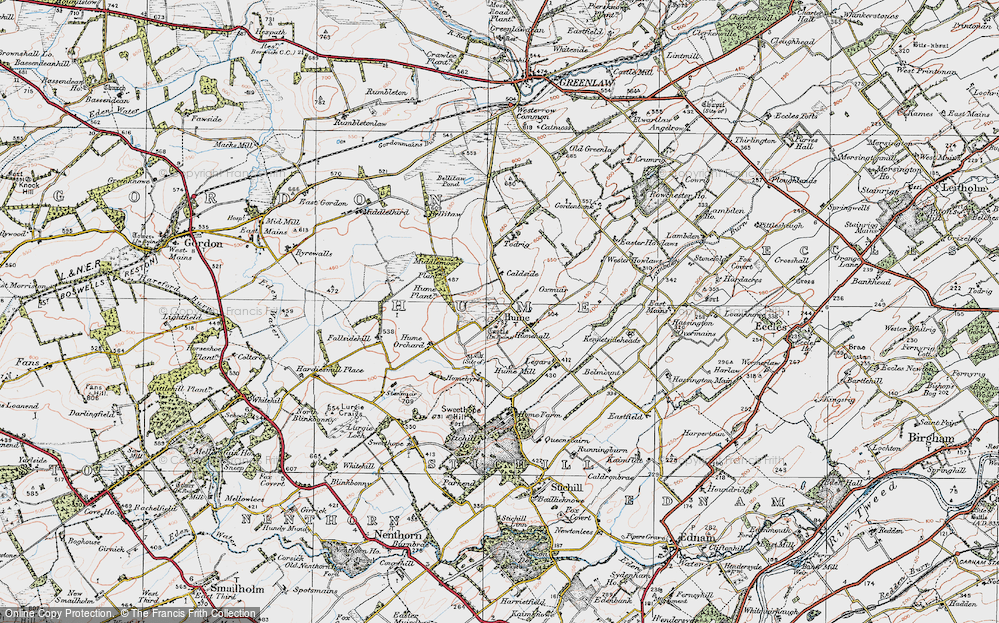 Old Map of Historic Map covering Legars in 1926