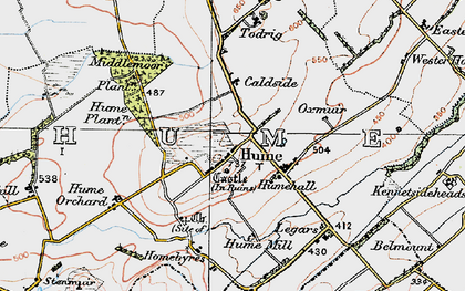 Old map of Legars in 1926