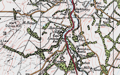 Old map of Lintalee in 1926
