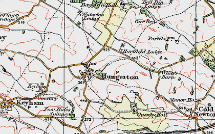 Old map of Baggrave Hall in 1921