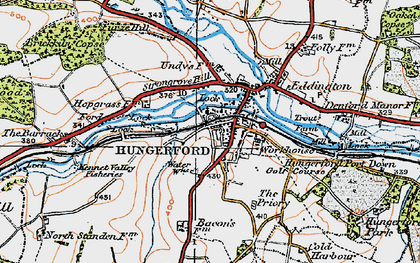 Old map of Hungerford in 1919