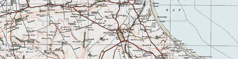 Old map of Hunmanby in 1925