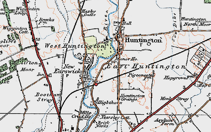 Old map of Huntington in 1924