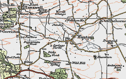 Old map of Wyvill Grange in 1925