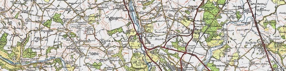 Old map of Hunton Bridge in 1920