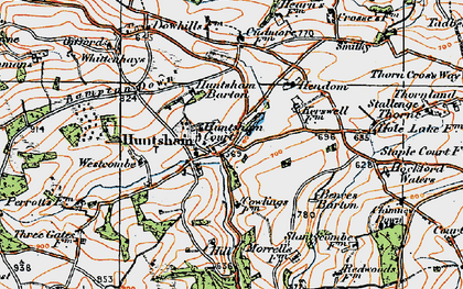 Old map of Bampton Down in 1919
