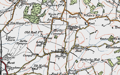 Old map of Hurley in 1921