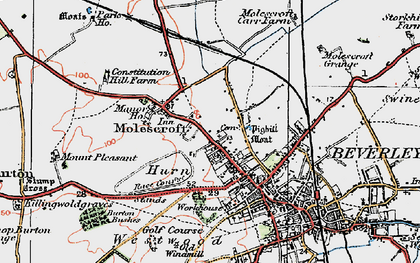 Old map of Westwood in 1924