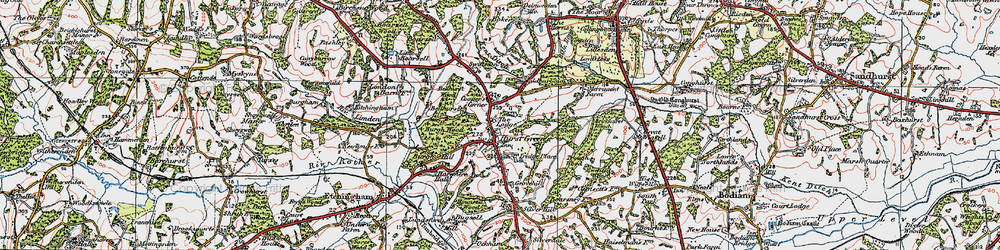 Old map of Swiftsden in 1921