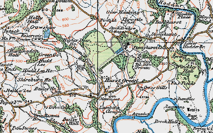 Old map of Bailey Ho in 1924