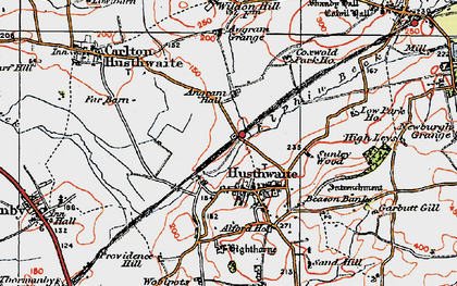 Old map of Acaster Hill in 1925