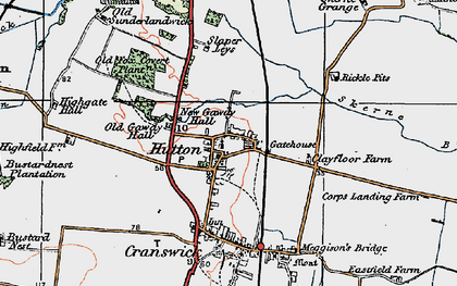 Old map of Hutton in 1924