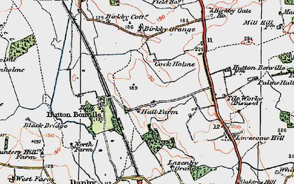 Old map of Lazenby Grange in 1925