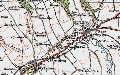 Old map of Yedmandale Woods in 1925
