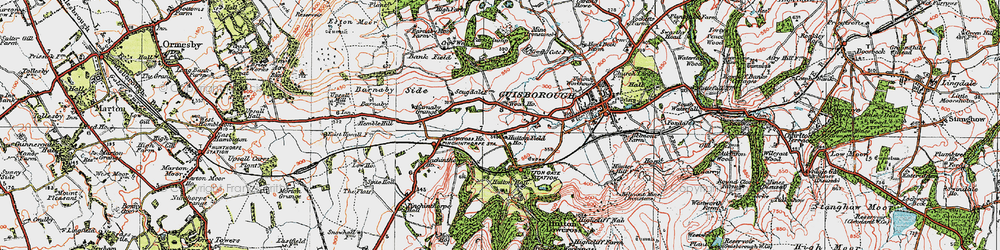 Old map of Hutton Gate in 1925