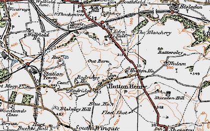 Old map of Leechmire in 1925