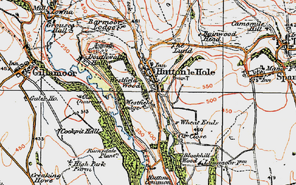 Old map of Wheat Lund in 1925