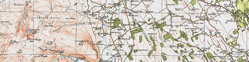 Old map of Thwaite Hall in 1925