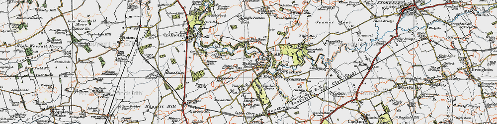 Old map of Hutton Rudby in 1925