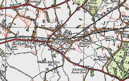 Old map of Huyton Park in 1923