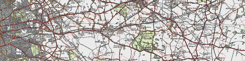 Old map of Huyton Quarry in 1923