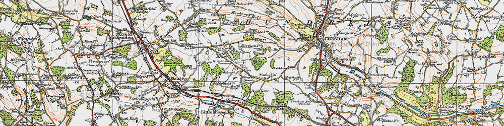 Old map of White's Wood in 1920
