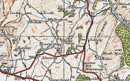 Old map of Bagbury in 1921