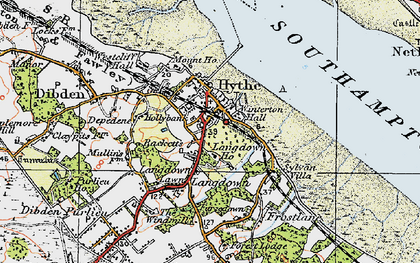 Old map of Hythe in 1919