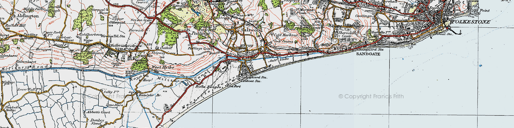 Old map of Hythe in 1920