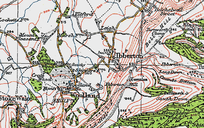 Old map of Ibberton in 1919