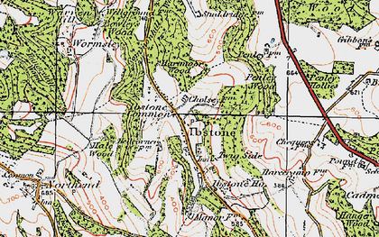 Old map of Ibstone in 1919