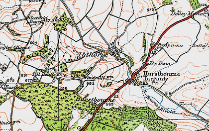Old map of Windmills in 1919