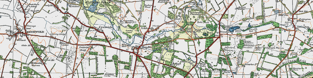 Old map of Ickburgh in 1921