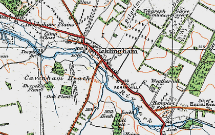 Old map of Ash Plantn in 1920