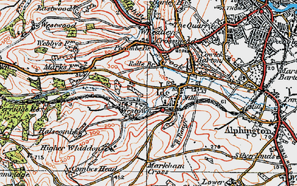 Old map of Ide in 1919