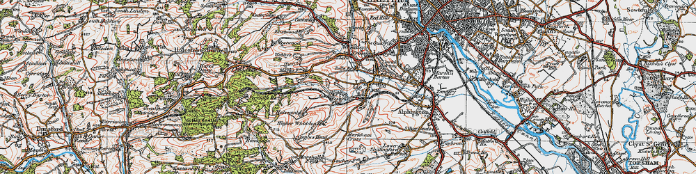 Old map of Wheatley in 1919