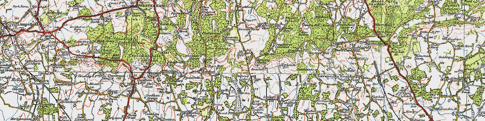Old map of Ide Hill in 1920